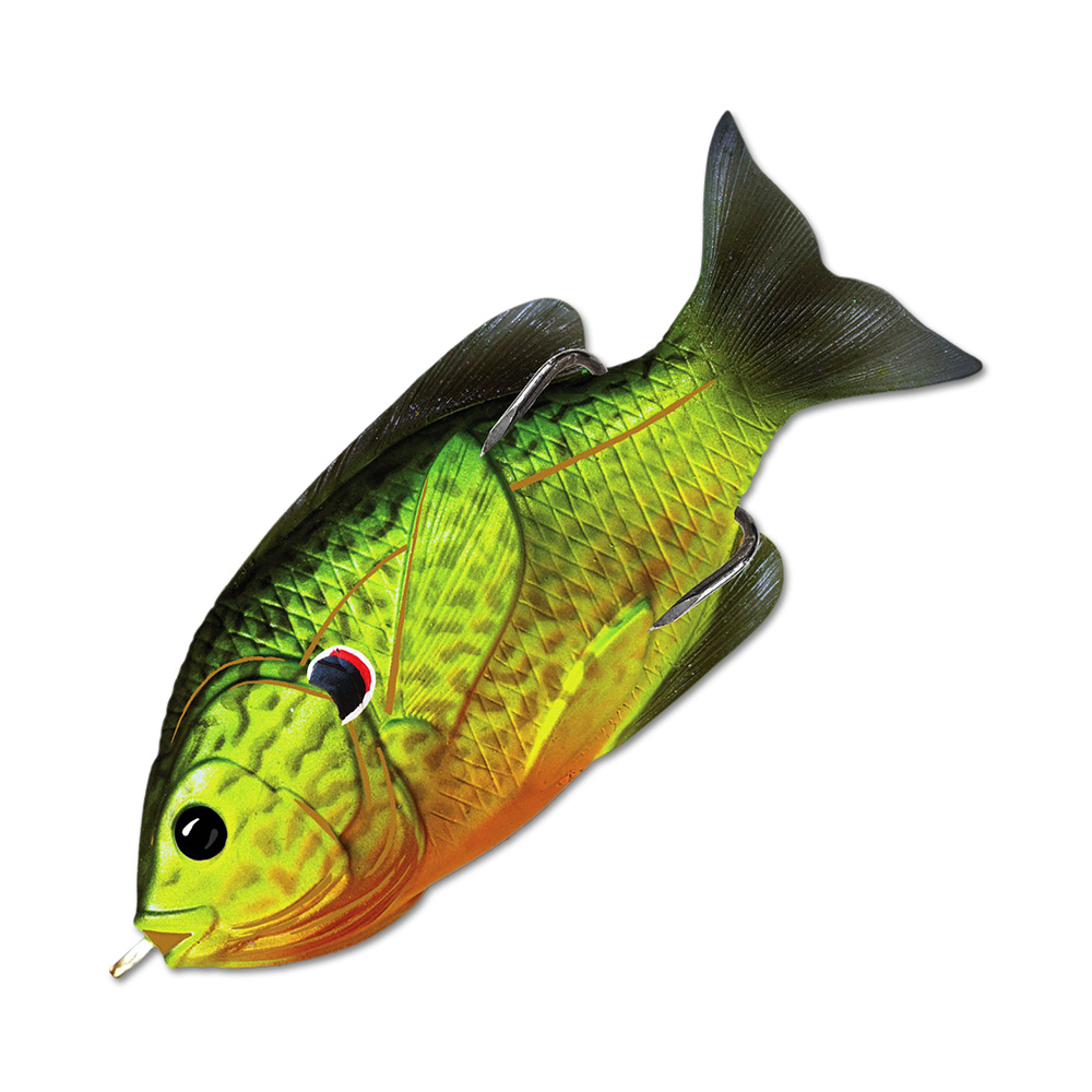 Воблер LiveTarget Sunfish Hollow Body 75F вес 12  гр. цвет  552 Florescent Pumpkinseed