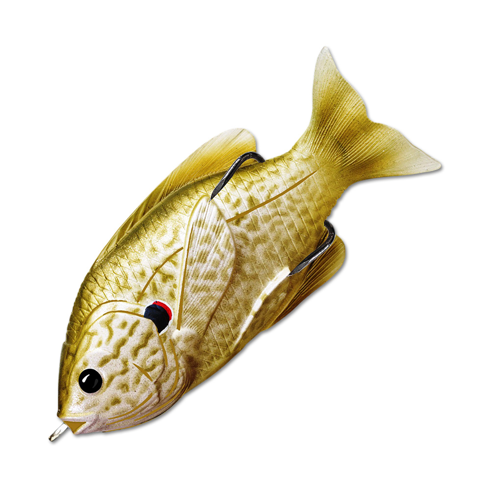 Воблер LiveTarget Sunfish Hollow Body 75F вес 12  гр. цвет  553 Pearl/Olive Pumpkinseed