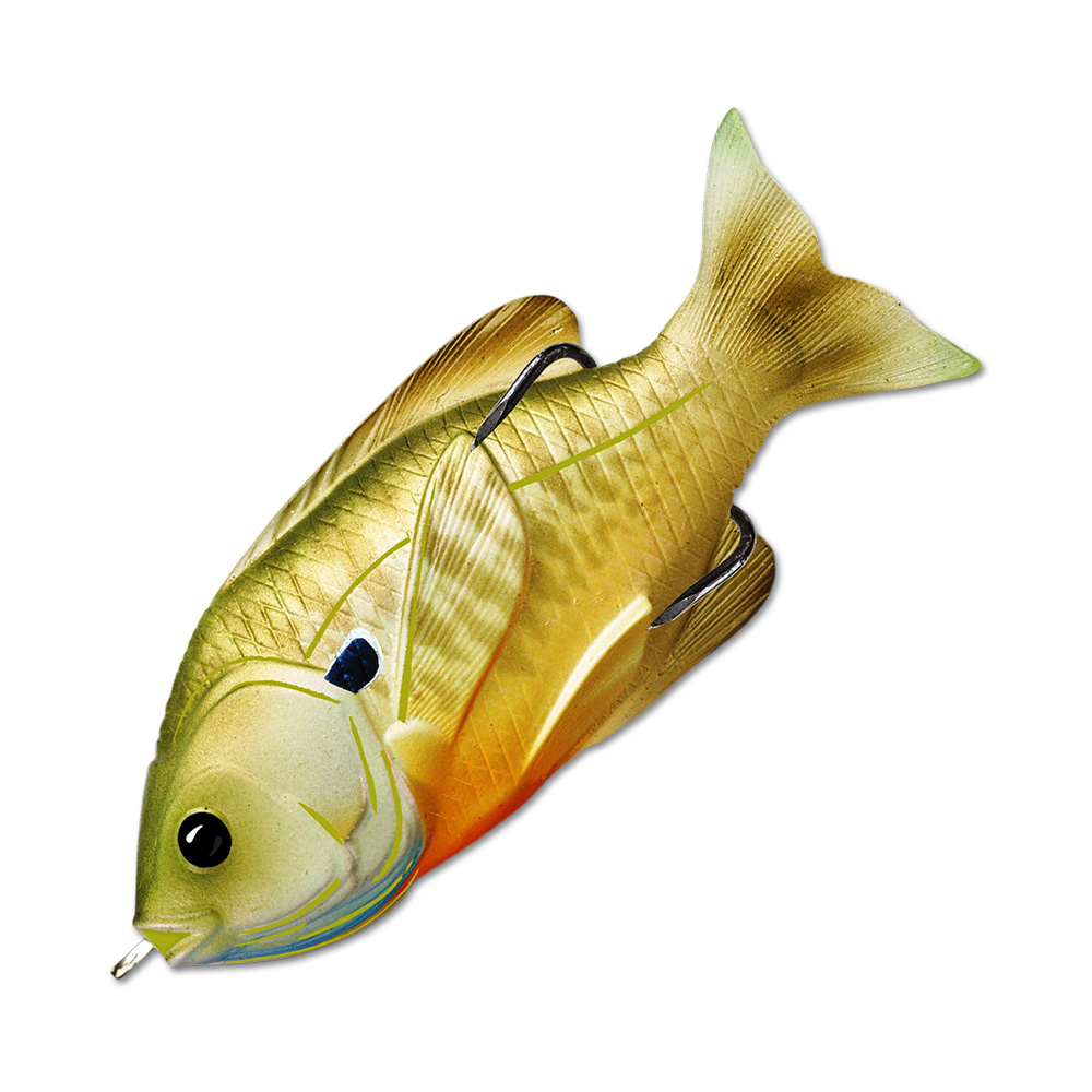 Воблер LiveTarget Sunfish Hollow Body 90F вес 18  гр. цвет  554 Natural/Green Bluegill