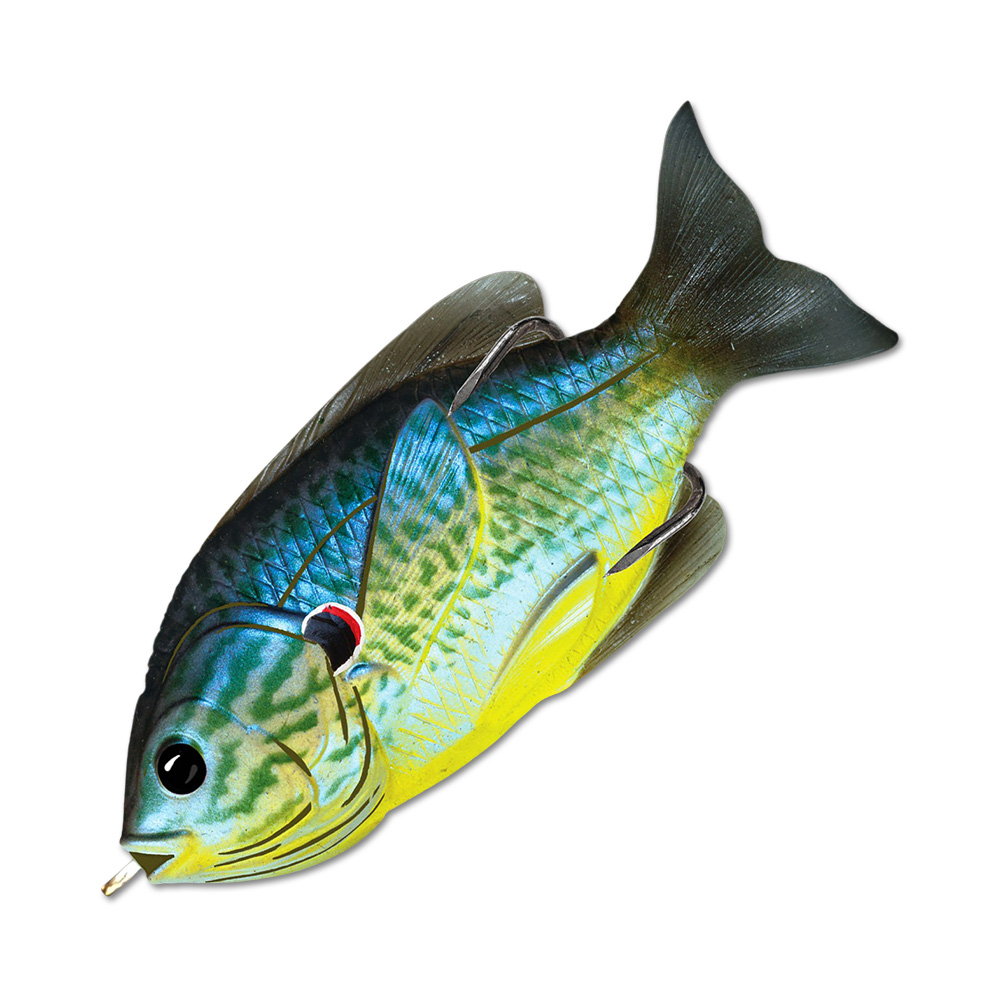Воблер LiveTarget Sunfish Hollow Body 90F вес 18  гр. цвет  555 Blue/Yellow Pumpkinseed