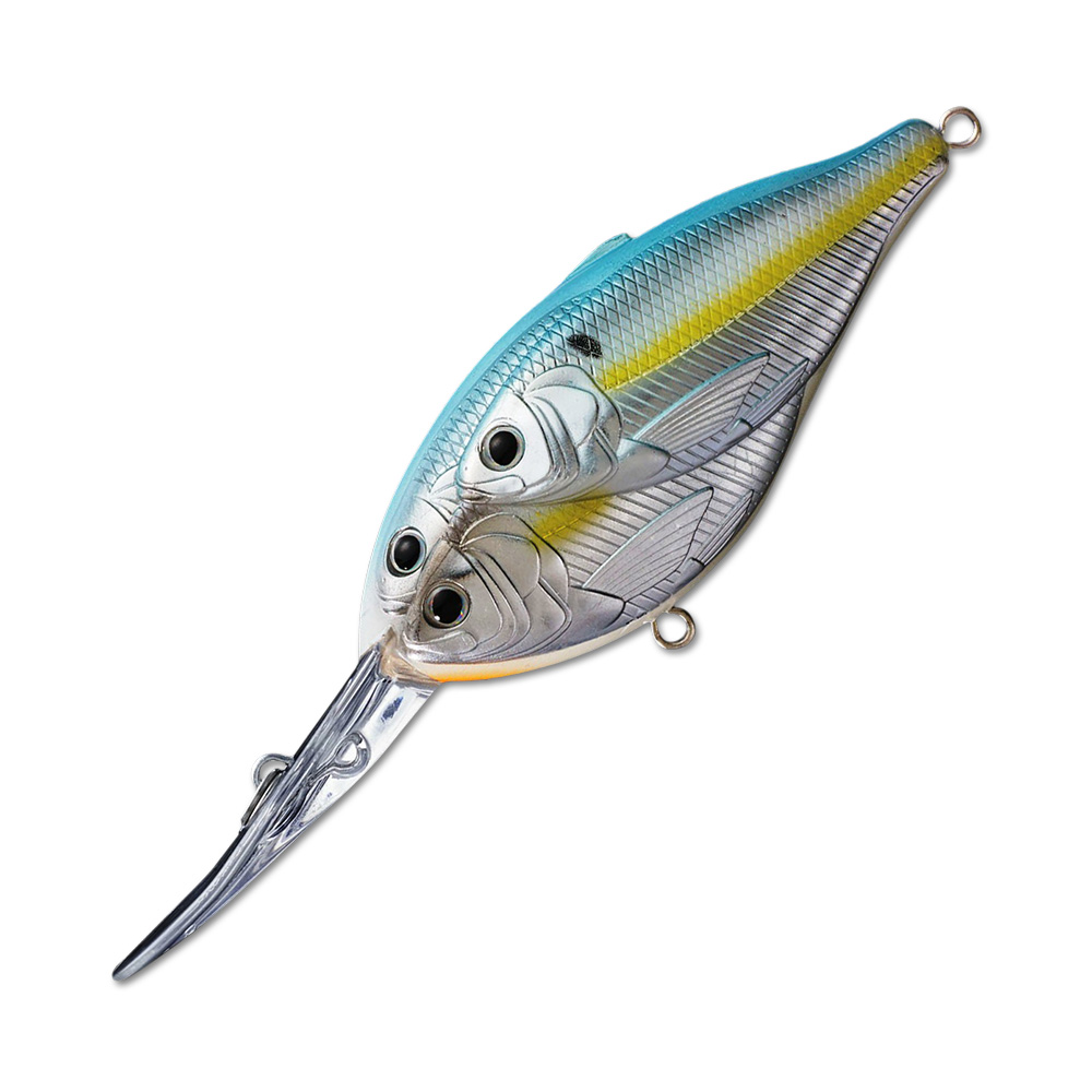 Воблер LiveTarget Threadfin Magnum Shad Crankbait 70F вес 18  гр. цвет  822 Metallic Pearl/Blue Shad