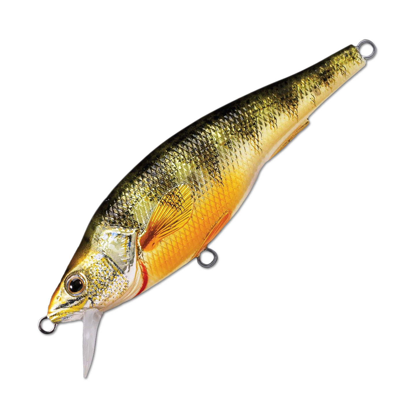 Воблер LiveTarget Yellow Perch Jerkbait 73SP вес 11  гр. цвет  102 Metallic/Gloss