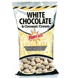 Бойлы плавающие Dynamite Baits 20 мм White Chocolate & Coconut Cream1 кг