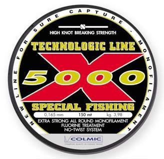 Леска COLMIC X-5000 мт.150 - 0.185 - 5.05кг