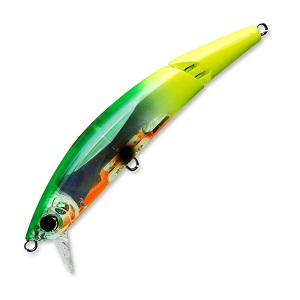 Воблер Yo-Zuri Crystal 3D Minnow Jointed F1096-BTCL