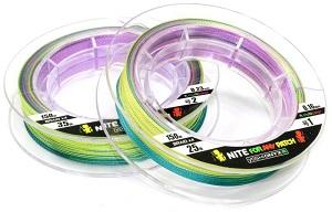 Леска плетеная Yoshi Onyx NITE 4 Multicolor, 2.0# PE, 150м